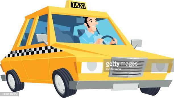 taxi - hatchback stock illustrations, clip art, cartoons, & icons