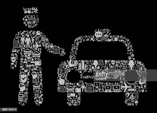 ilustraciones, imágenes clip art, dibujos animados e iconos de stock de taxi y conductor icono negocios y finanzas vector icono patrón - taxista
