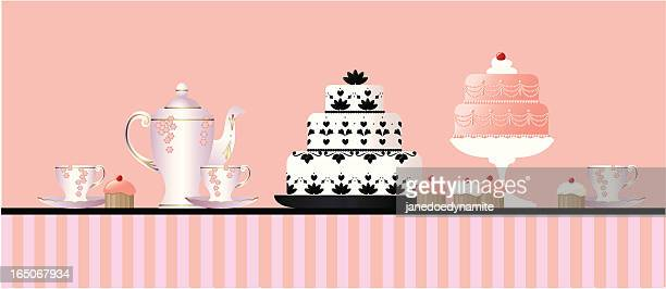 tea and cakes - queen royal person stock illustrations, clip art, cartoons, & icons