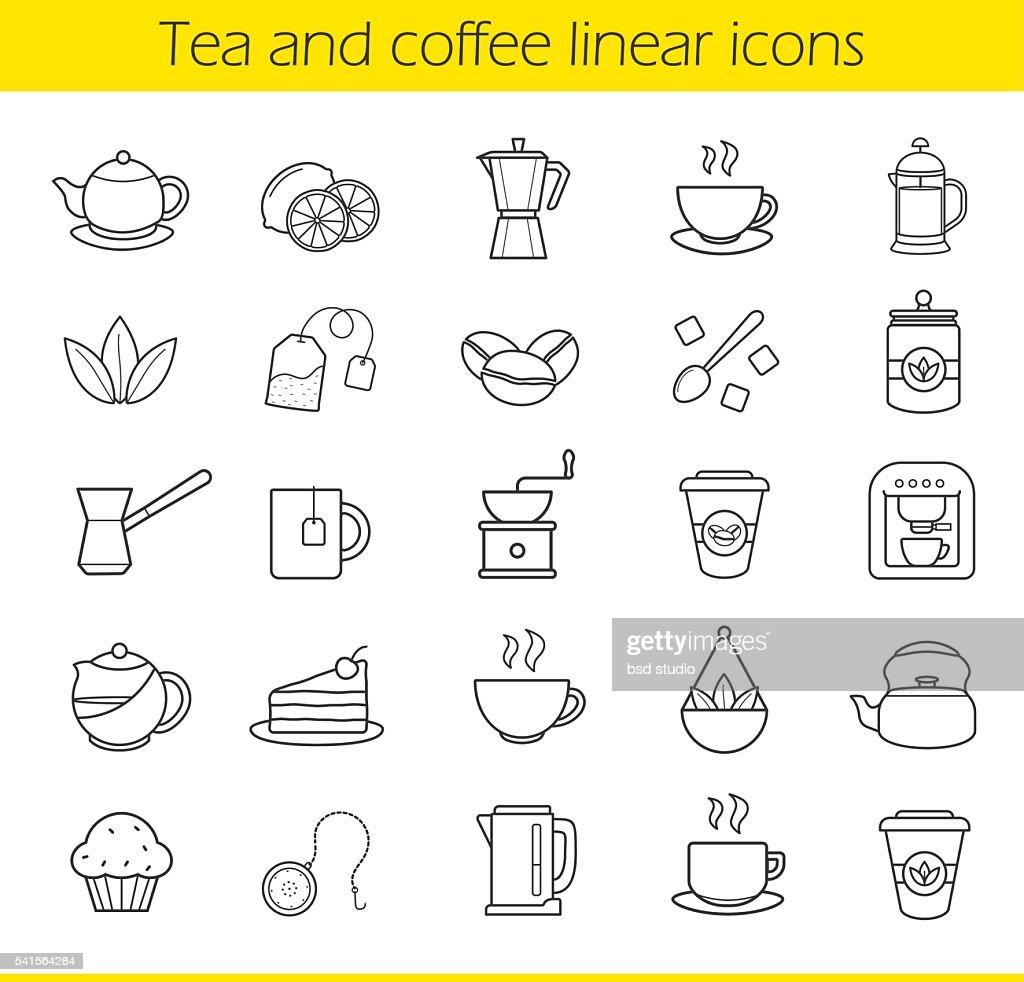 Tea and coffee icons