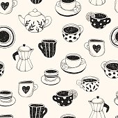 Tea and Coffee, Pattern.