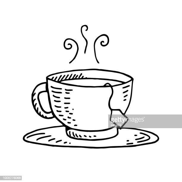 Tea bag hand-drawn illustration