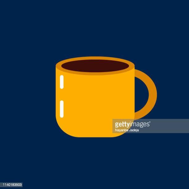 tea cup icon - caffeine stock illustrations
