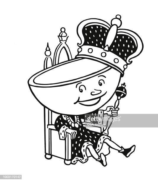 茶カップ王 - 王座点のイラスト素材/クリップアート素材/マンガ素材/アイコン素材