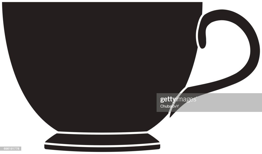 tea cup silhouette vector art getty images