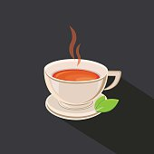 Tea cup vector illustration