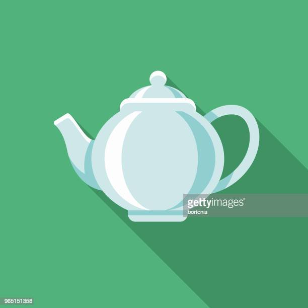 Tea Flat Design Winter Icon with Side Shadow