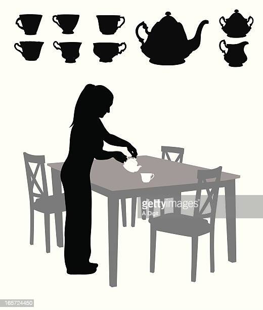 Tea For One Vector Silhouette