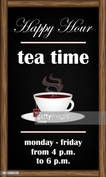 Tea Happy Hour Blackboard Announcement