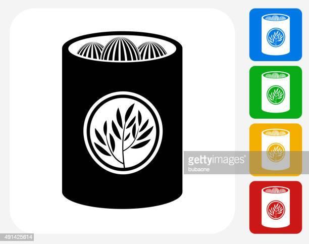 tea icon flat graphic design - steeping stock illustrations, clip art, cartoons, & icons