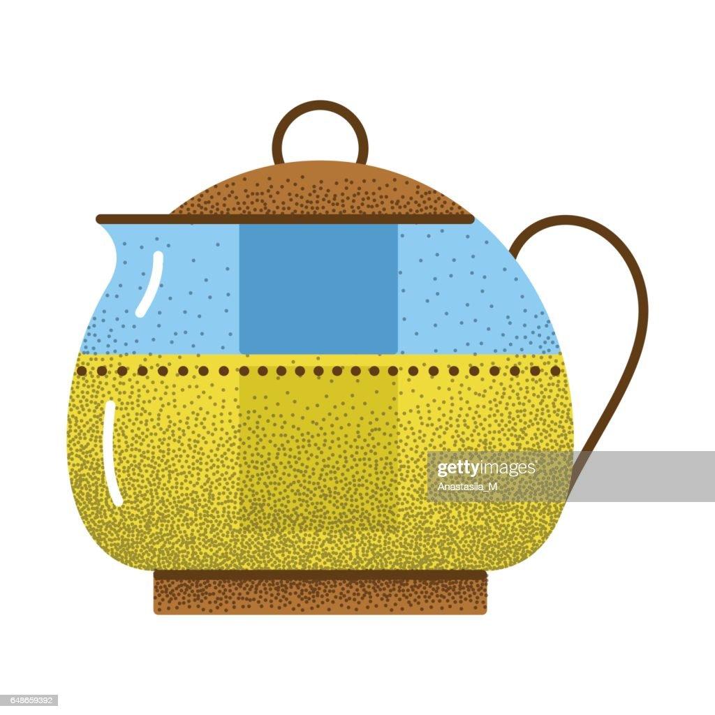 Tea icon retro texture.