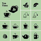 Tea Icons. Tea Time. Teacup.