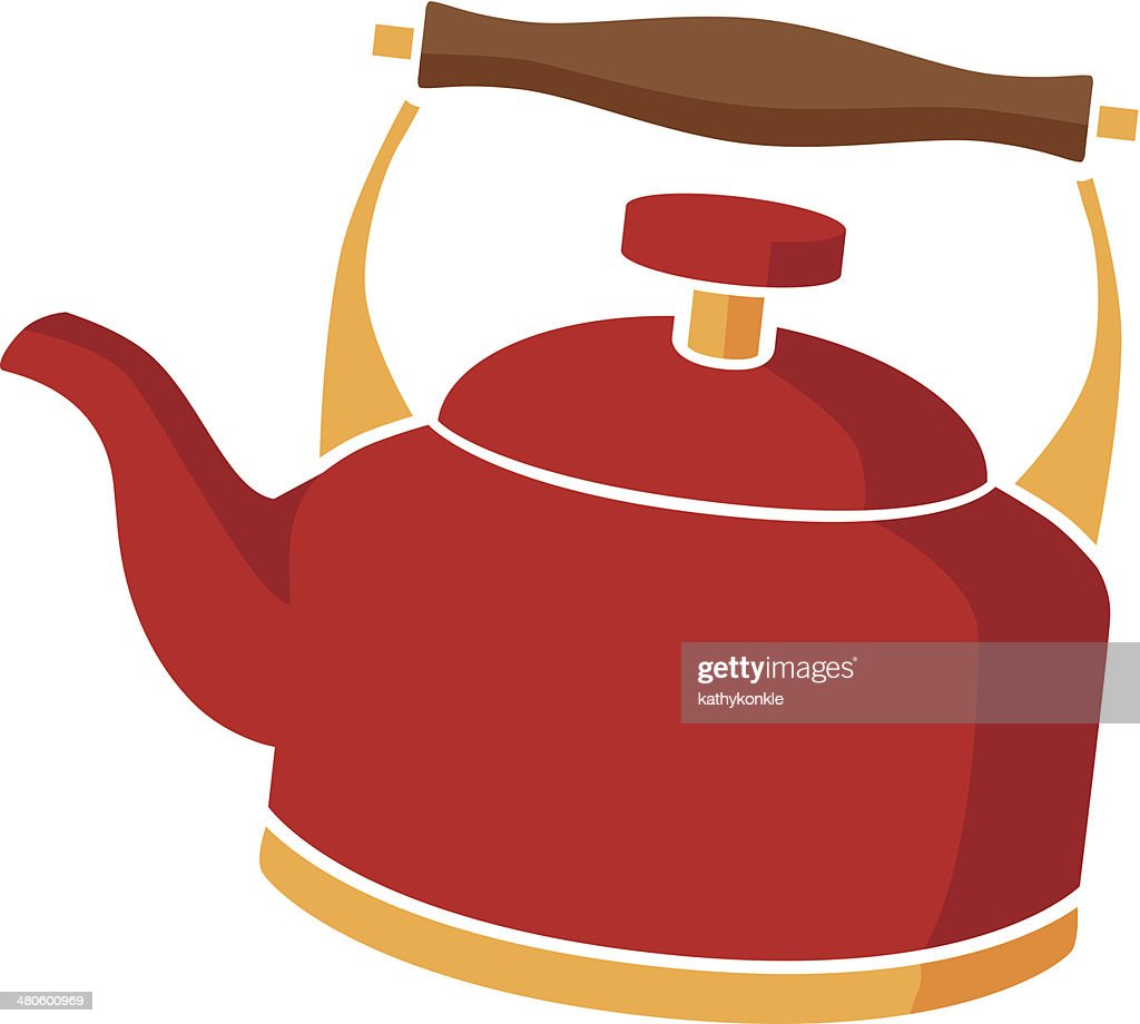 tea kettle in color : Vector Art