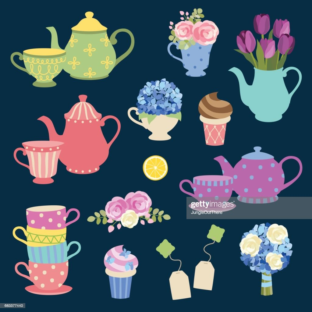 Tea Party And Flower Set