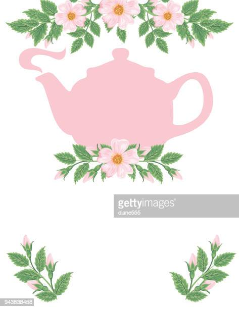Tea Party and Wild Roses Backgorund