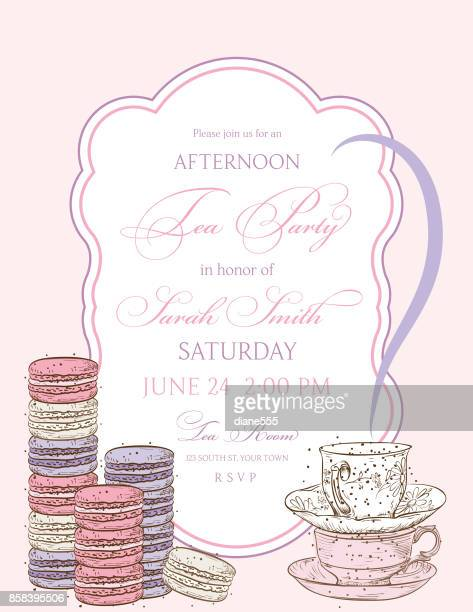 Tea Party Background With A Frame For Text
