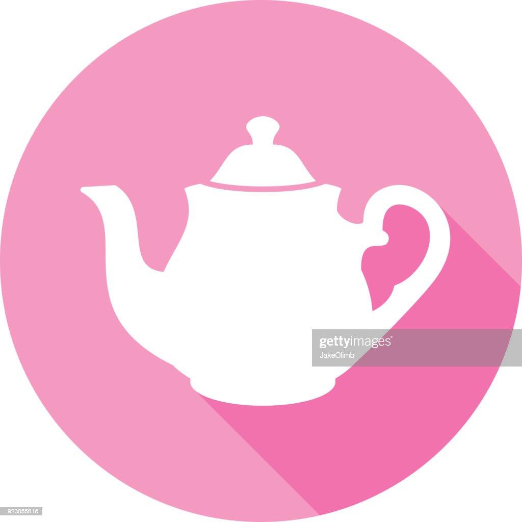 Tea Pot Fancy Icon Silhouette : stock illustration