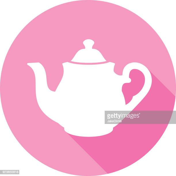 Tea Pot Fancy Icon Silhouette