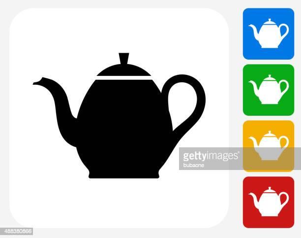 Tea Pot Icon Flat Graphic Design