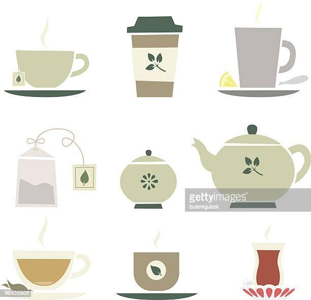 tea - green tea stock illustrations, clip art, cartoons, & icons