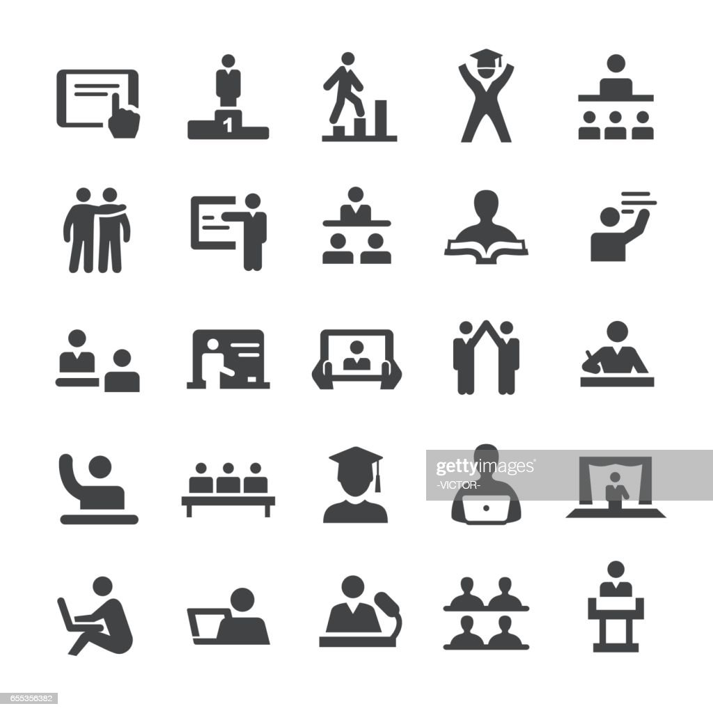 Teacher and Student Icons - Smart Series : stock illustration
