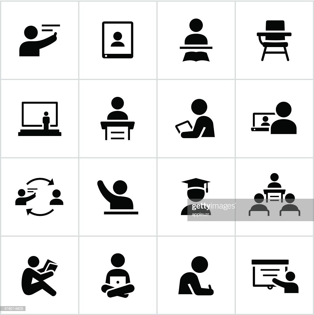 Teacher And Student Icons Vector Art | Getty Images