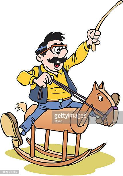 Teacher on the wooden horse