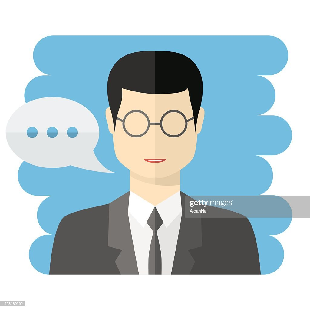 Teacher or businessman vector avatar
