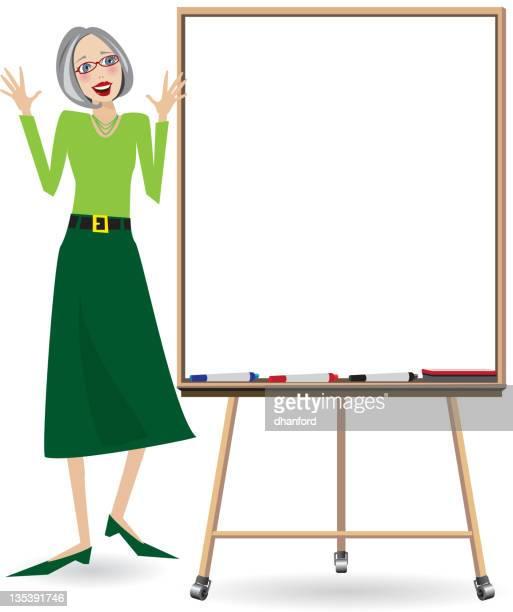 Teacher with Whiteboard, teaching