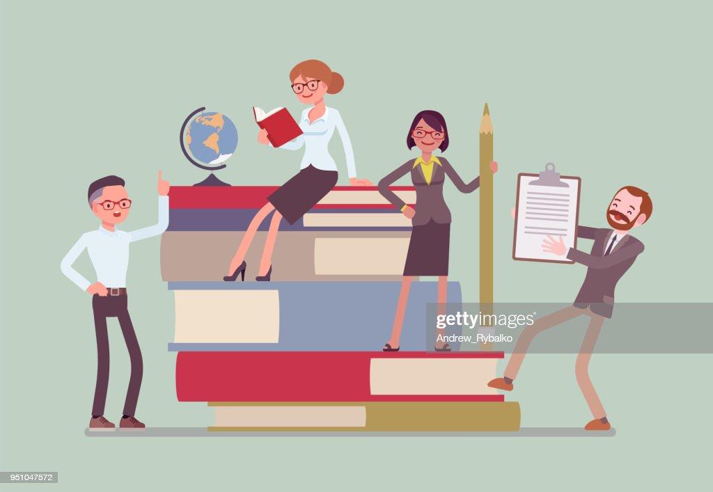 Teachers group at giant books