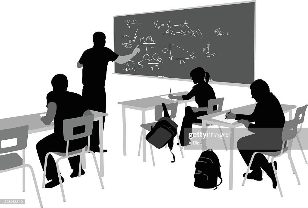 Teaching Math : stock illustration