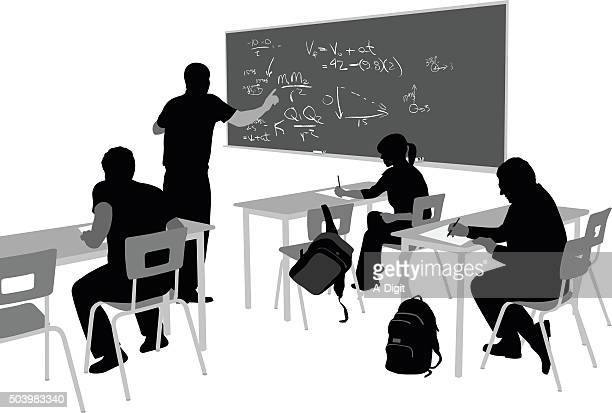 teaching math - high school student stock illustrations, clip art, cartoons, & icons