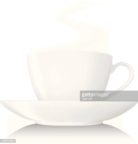 teacup - vector - saucer stock illustrations