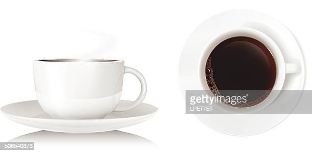 teacup - vector - steam stock illustrations