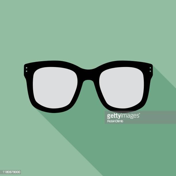 illustrazioni stock, clip art, cartoni animati e icone di tendenza di teal eyeglasses icon 1 - occhiali da lettura