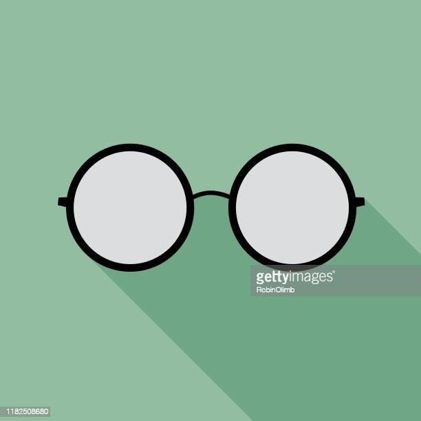 teal eyeglasses icon 10 - eyeglasses stock illustrations