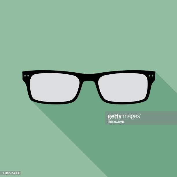 teal eyeglasses icon 11 - horn rimmed glasses stock illustrations, clip art, cartoons, & icons