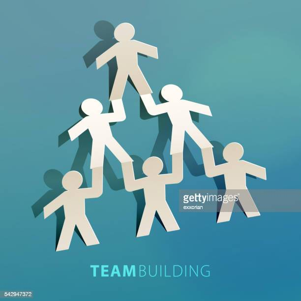 Team Building Concept Paper Cut