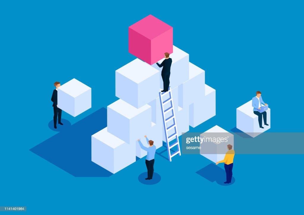 Team ontwikkeling business concept : Stockillustraties