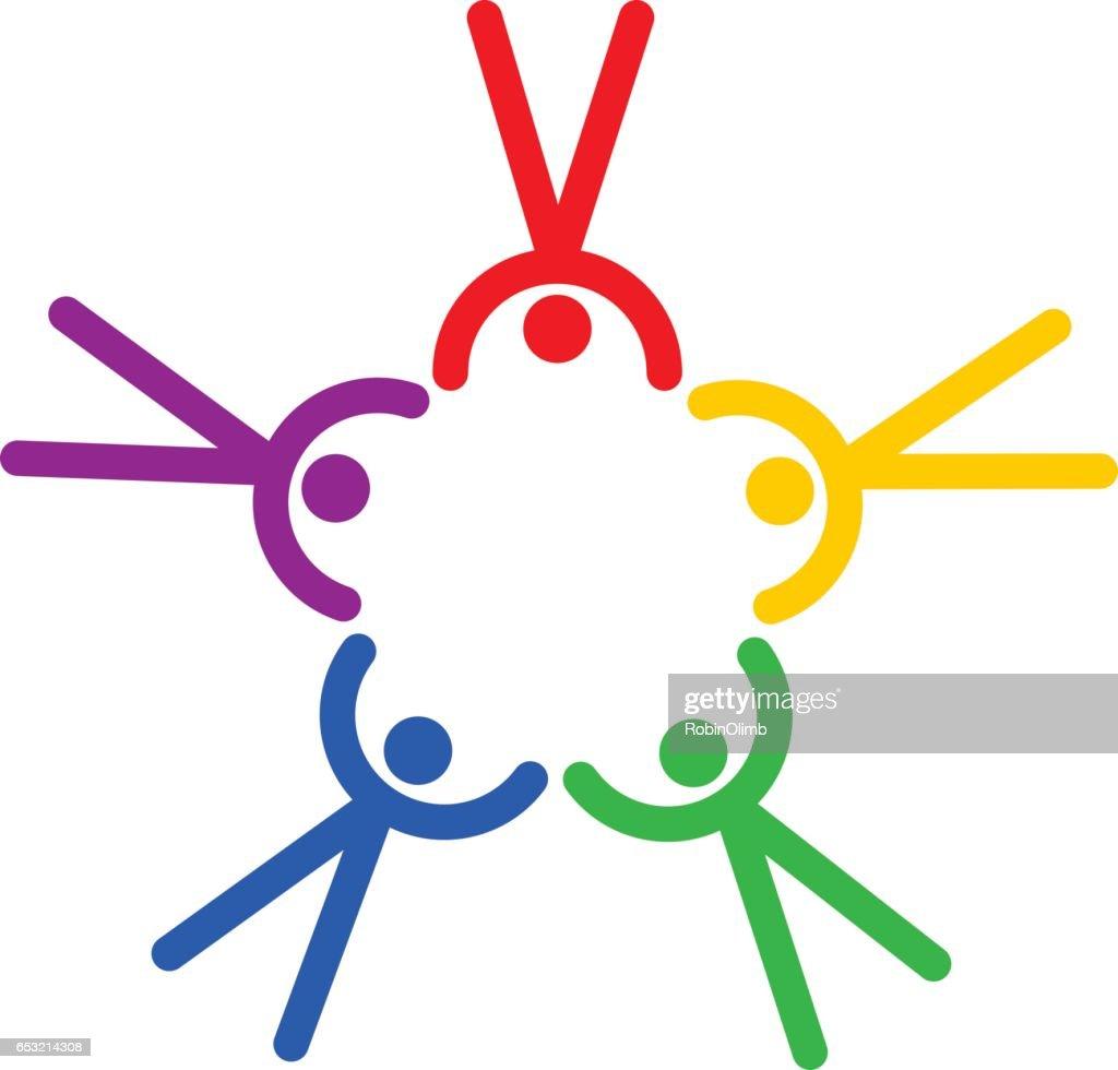 Team Figures Icon : Vector Art
