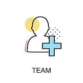 Team Graphic Icon.Vector Illustration