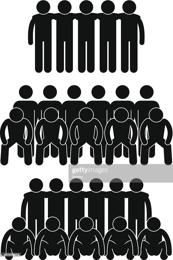 Team Group Teammate Teamwork Pictogram