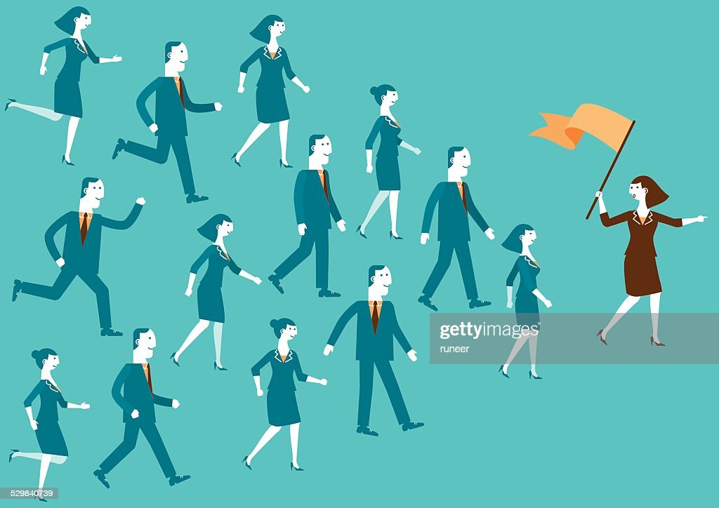 Team Leader Showing The Way | New Biz : stock illustration