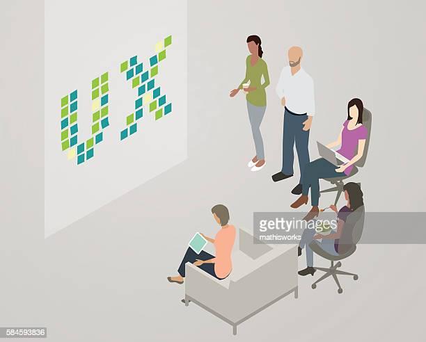 UX team meeting illustration