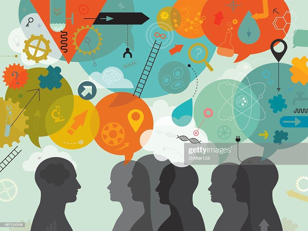 Team Of Scientist Brainstorming