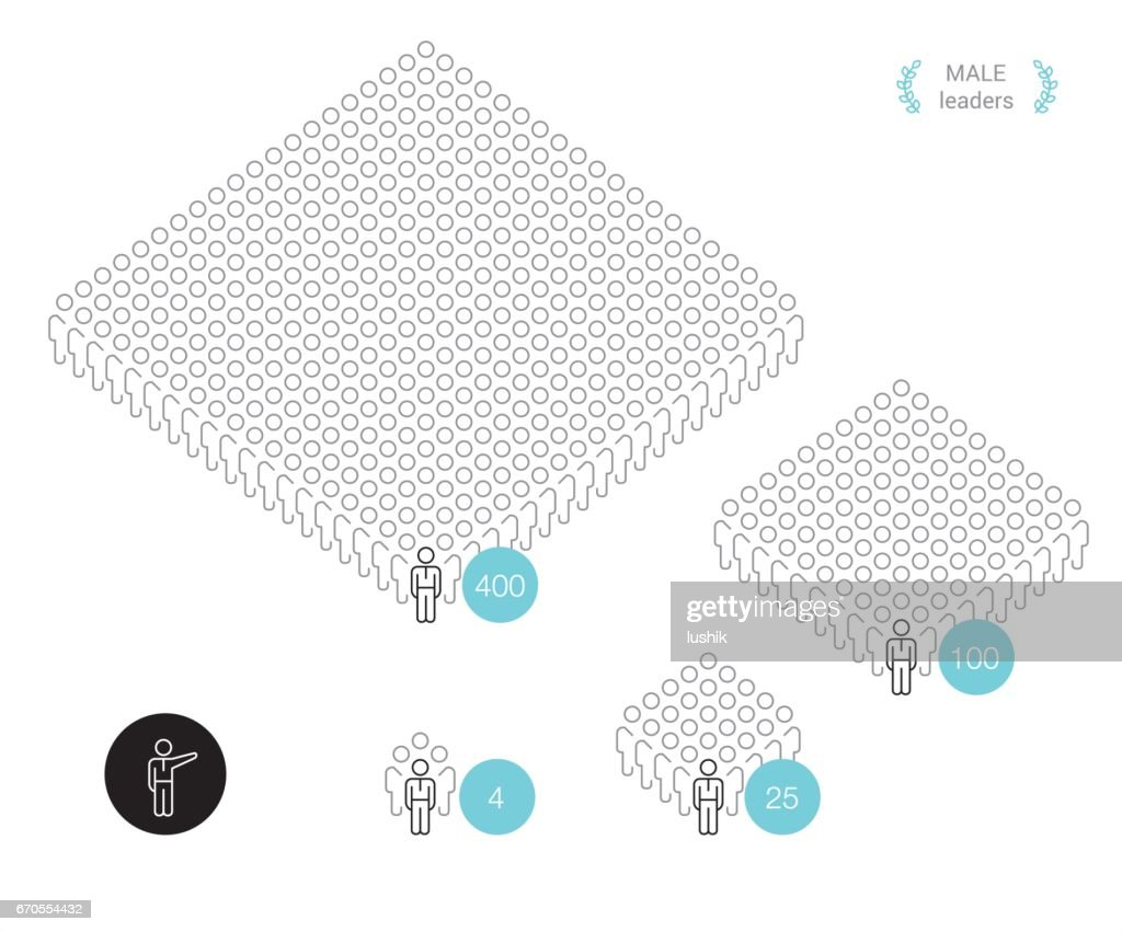 Teamgröße - Pixel perfekte Infografik : Stock-Illustration