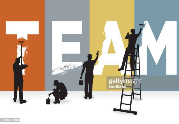 Team, Sports or Business Concept Graphic