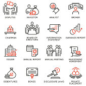 Team work and stakeholders icons - part 2