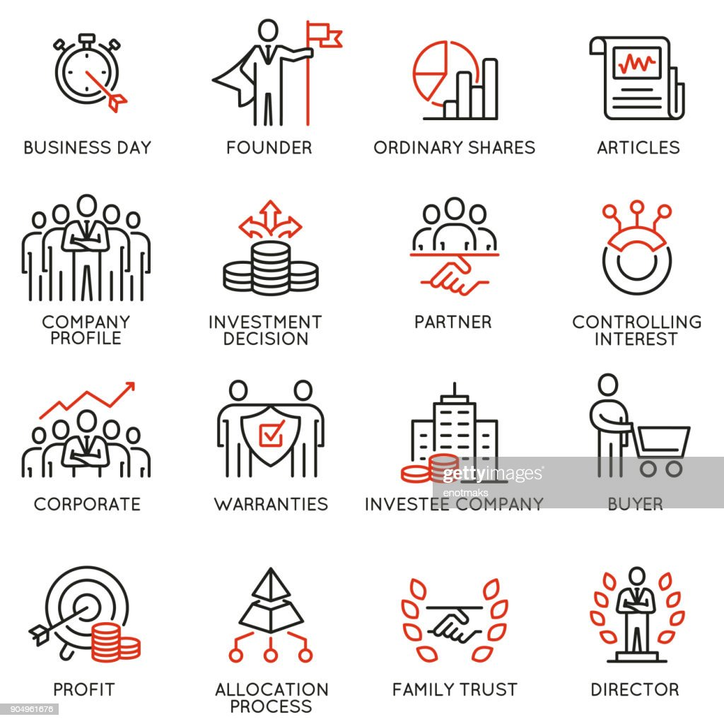 Team work and stakeholders icons - part 5