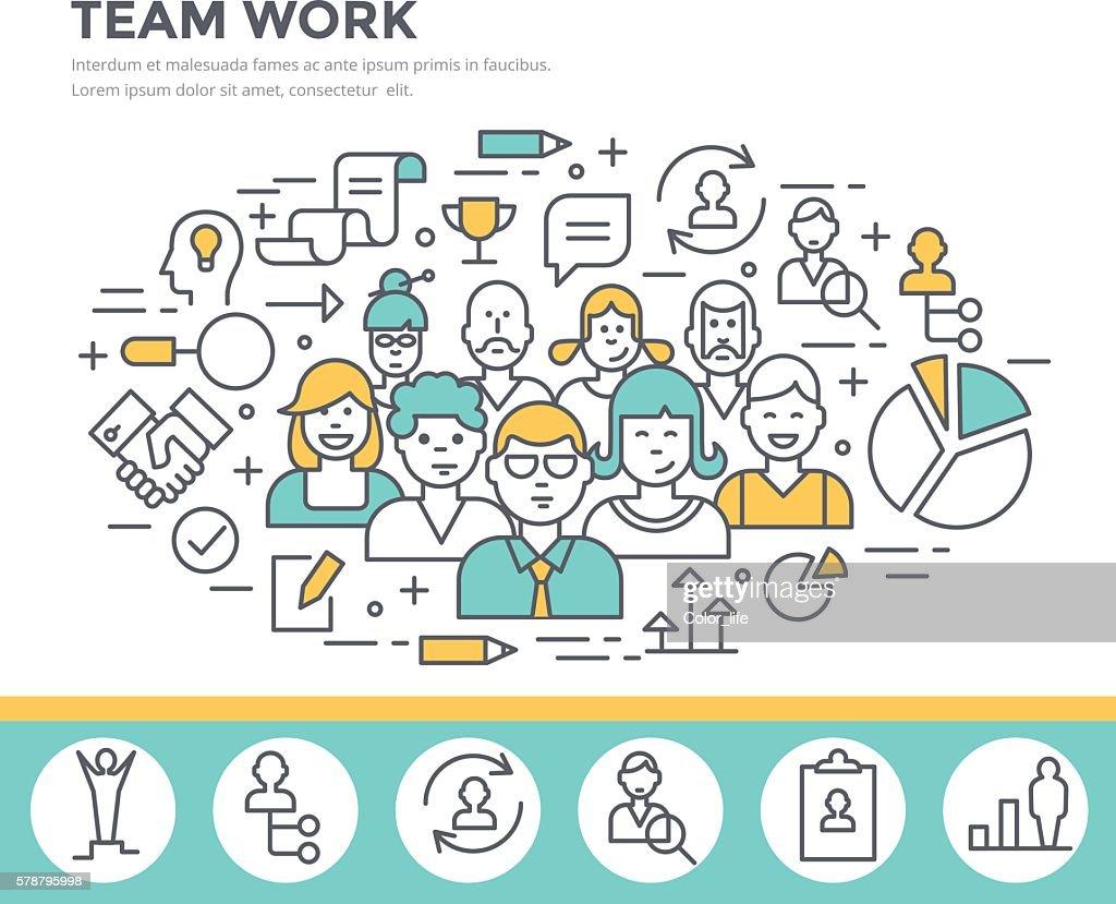 Team work concept illustration.